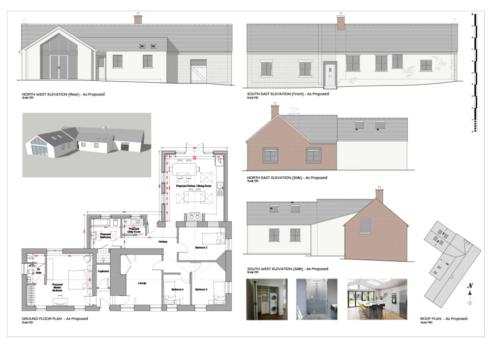 Architectural 2D CAD drawing Hill Top Cottage