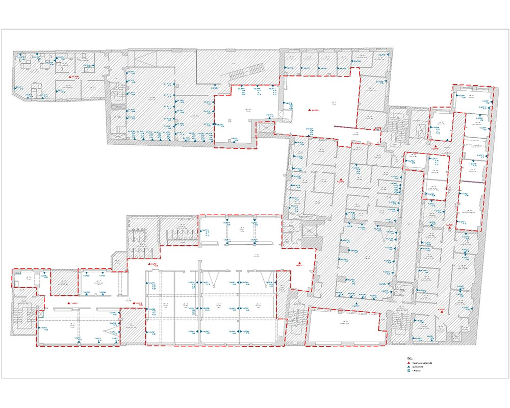 Building services floor plan CAD drawing