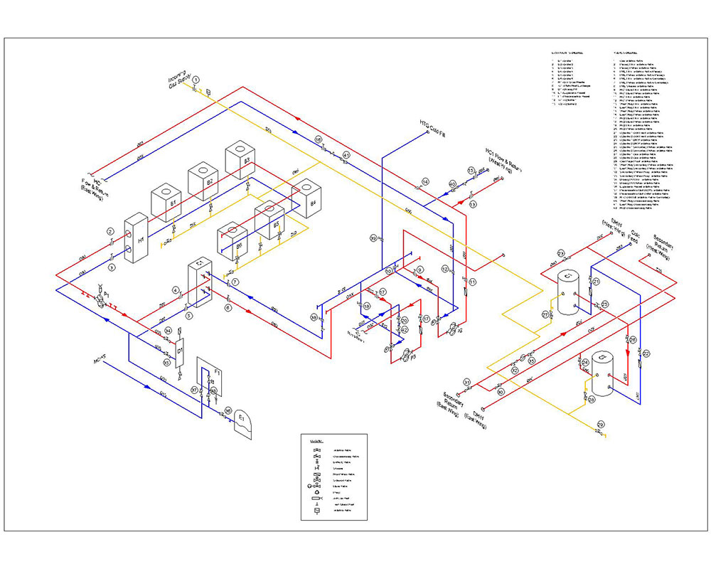 Mechanical schematic CAD drawing