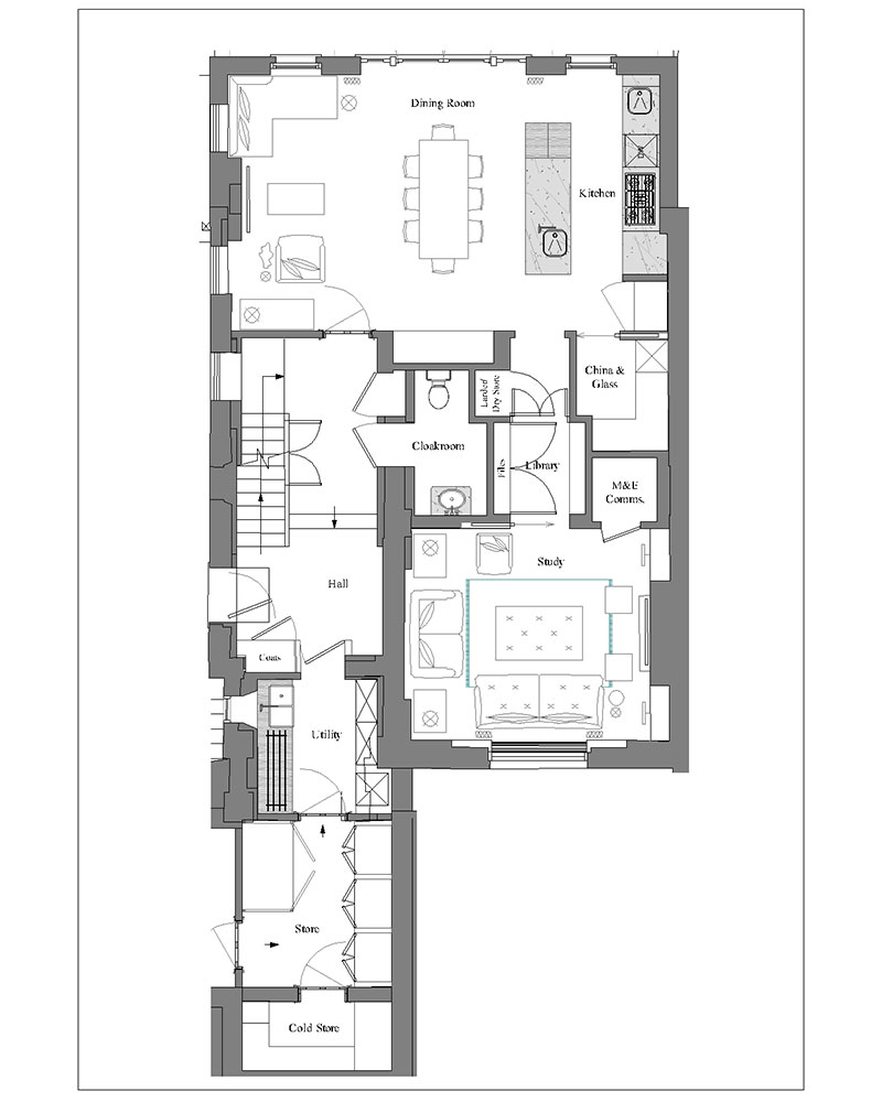 Interior design - floor plan