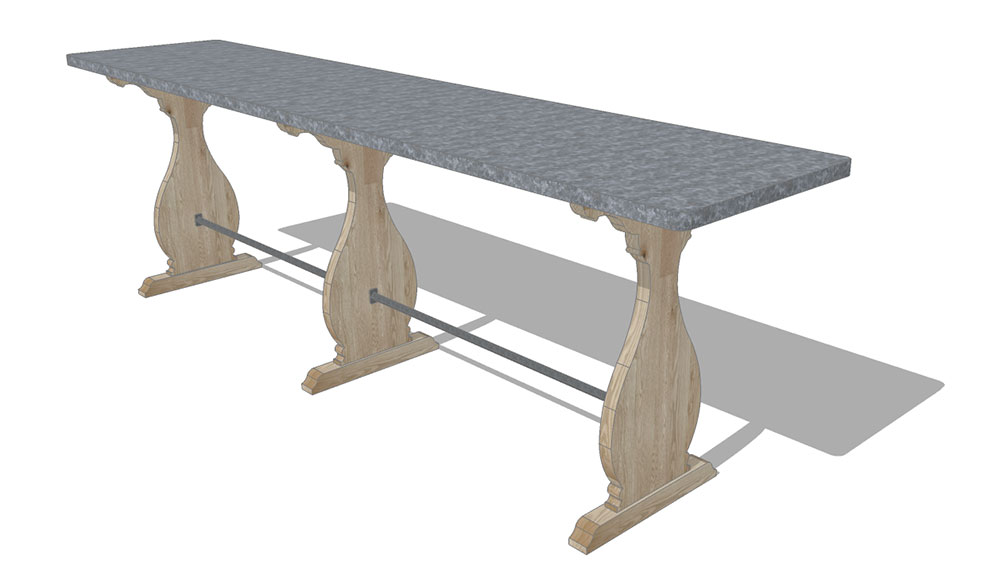 Interior design - raccolta table 3d visualisation